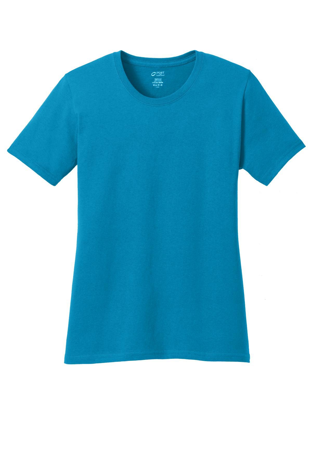 Medium Port /& Company/® Light Blue 5.4-oz 100/% Cotton T-Shirt